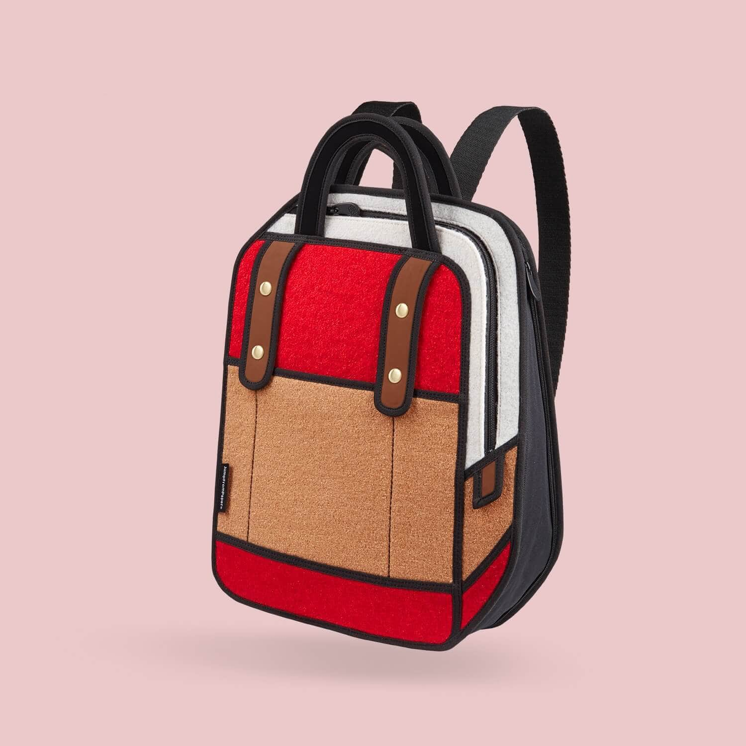 Jump From Paper Woolen Red Backpack  31d70eea4c